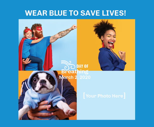 Wear blue to save lives Day of Breathing
