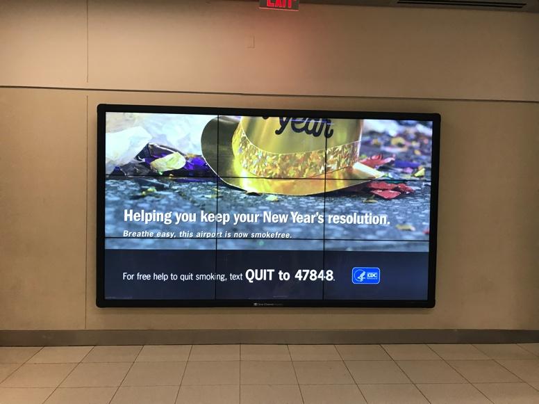 airport smokefree ad