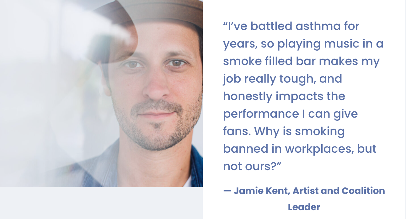 Jamie Kent Supports Smokefree Air